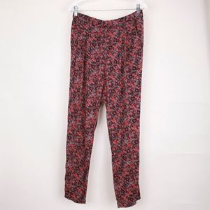 Madewell Orange Gray Black Speckled Print Trousers